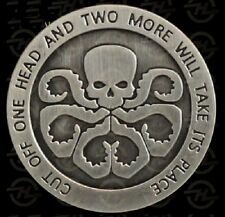 Avengers Agents of Shield S.H.I.E.L.D Hydra Skull Antique Silver Plated Coin