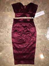 New Portia&Scarlett Burgundy Sweetheart Plunge Barbie Dress Set Size XS