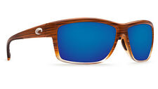 NEW Costa Del Mar MAG BAY 580P Polarized Sunglasses | Wood Fade / Blue Mirror
