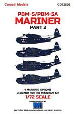 Caracal Decals 1/72 MARTIN PBM-5 PBM-5A MARINER Flying Boat Part 2