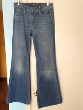 Women's 7 For All Mankind Light Blue Flared Denim Jeans in Size 30