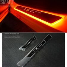 Red LED light Door Sill Scuff Plate Aluminum for Kia K3/Forte/Cerato 2013+