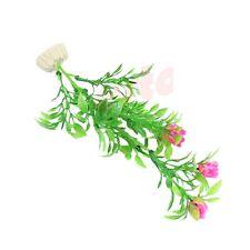 planta artificial acuario decoracion acuarios flor rosa 20cm arbusto verde