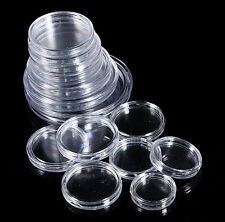 Coin Collection Capsules Boxes 18mm-50mm  Coins Clear Holders Containers 10pcs