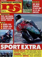 mo 6/87 1987 RG 250 500 Gamma CBR 600 F XT 600 GPZ 500 Moto Guzzi V65 Florida