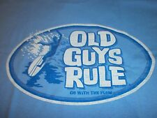 OLD GUYS RULE GO WITH THE FLOW SURF SURFBOARD FIN LONGBOARD S/S SIZE XXL T-SHIRT