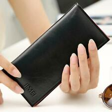 Women Leather Coin Purse Card Receipt Holder Organizer Long Folding Wallet 5