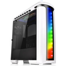 Thermaltake Versa C22 White Mid Tower Case with Side Window & RGB LED 2x USB 3.0