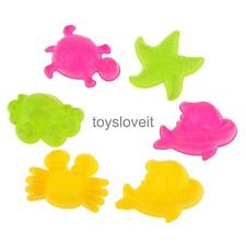 6pcs Lovely Sand Mold for Sea Animals Boys Girls Beach Park Outdoor Toy Set