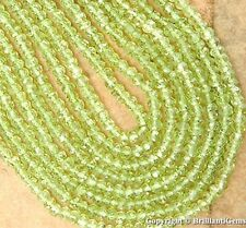 WE SELL QUALITY! 3mm Natural Green Peridot Micro Faceted Beads