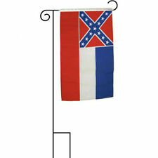 """12x18 12""""x18"""" State of Mississippi Sleeved w/ Garden Stand Flag"""