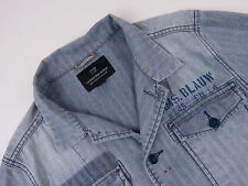 P5117 Scotch & SODA Chaqueta Blazer Original Premium Denim Espiga Talla L