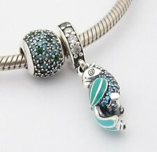 EXOTIC PARROT 2 CHARMS Beads SET Sterling Silver.925 for European Bracelet