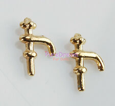 Hardware Water Faucet Hydrant Water Tap 2PCS 1:12 Scale Dollhouse #OA0067