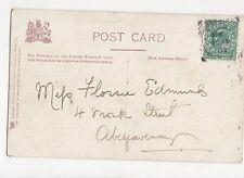 Miss Flossie Edmunds Monk Street Abergavenny 1903 300a