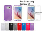 S line Skin Soft Gel Case For Samsung GALAXY S6+Screen Protector