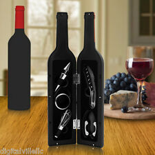 Premium Wine Bottle Gift Set Opener Stopper Drip Ring Foil Cutter Pourer NEW