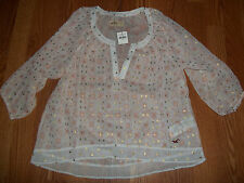 Hollister North Jetty Pink Womens Top Size Large BNWT