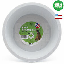 Van Ness Heavyweight Large Dog Bowl/Crock Grey 52 Oz. For Large Dogs
