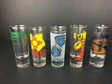 Double Shot Glass Set - 5 Tall Shooter ~ Barware Lot  Senor Frogs Tequila Mexico