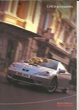 TOYOTA CELICA ACCESSORIES SALES BROCHURE NOVEMBER 1999 FOR 2000