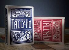 2 Decks Tally Ho No 9 Circle Back Standard Playing Cards Red & Blue Brand New
