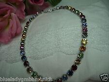 Kette 45cm LANG ✿ Multicolor ✿ Kristalle ✿ Collier 804870