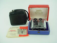 Tessina 35mm Half Frame Subminiature Camera w/ Manual box & Case - Rare