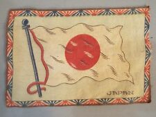 VINTAGE ANTIQUE CIGAR CIGARETTE TOBACCO FELT JAPAN NIPPON FLAG LINERS NR MB2