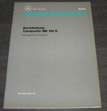 Werkstatthandbuch Mercedes Transporter MB 100 D Servolenkung Servo Dezember 1991