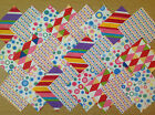 COTTON FABRIC PATCHWORK SQUARES PIECES CHARM PACK 4, 5 INCH ~ CARNIVAL