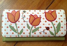 RELIC Takeaway Collection Tri-Fold Wallet TULIPS BEE & LADYBUG  NEW
