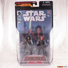 Star Wars Comic Packs Quinlan Vos & Vilmarh Grahrk Action Figures issue #19 2006