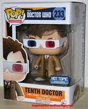 FUNKO POP TELEVISION DOCTOR WHO TENTH DOCTOR 233 3D Glasses HT SEALED In Stock