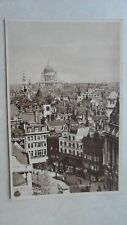 Bird's Eye View of St. Paul's and City from Strand - London