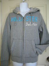 HOLLISTER by A & F Cotton Solid Hoodie Long Sleeves Sweatshirts Collections