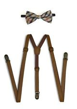Suspender and Bow Tie Set for Adults Men Women Teenagers BOT-617 (USA)