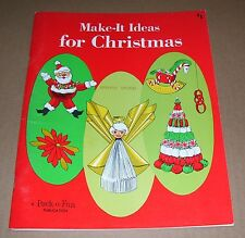 VINTAGE PACK-O-FUN MAKE IT IDEAS FOR CHRISTMAS 1969 CRAFT BOOK OOP