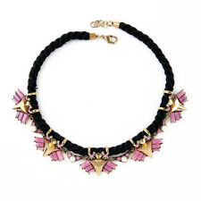 NEW * Urban Anthropolo​​gie Black Dabria Pink Gold Beetle Black Velvet Necklace