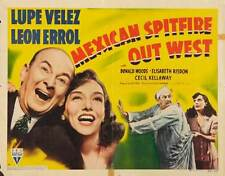MEXICAN SPITFIRE OUT WEST Movie POSTER 22x28 Half Sheet Lupe Velez Leon Errol