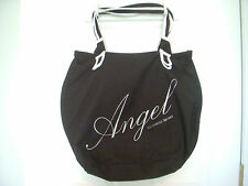 Victoria's Secret ANGEL Black Weekender Tote Bag Purse Gym Travel Shopping- EUC