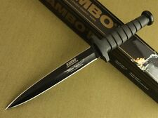 "12"" Rambo VI Style 5.5mm Boot Dagger Rubber Handle Survival Hunting Knife 8FK128"