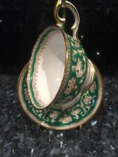 BEAUTIFUL VINTAGE CROWN STAFFORDSHIRE TEA CUP AND SAUCER ELLESMERE PATTERN