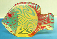 "Abraham Palatnik Angel Fish Sculpture 3.5"" Long Acrylic"