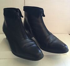 Ladies CLARKS K Black Leather/Suede Ankle Boots Size 5 (38)