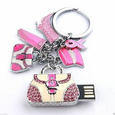 8GB HANDBAG Jewellery Swarovski Elements USB 2.0 Flash Drive Thumb Memory Stick