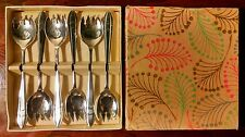 Mid Century Sheffield England Danish Modern Sporks Silver Plate Condiment Forks