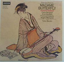 """PUCCINI MADAME BUTTERFLY RENATA TEBALDI BERGONZI TULLIO SERAFIN 12"""" LP (d248)"""