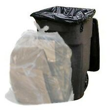 64 Gallon Trash Bags for Toter (Clear, 100 Garbage Bags Per Case)