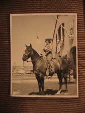 A Quarter Horse & rider Joanne Link of Robin Hill Stables Original 1950's Photo